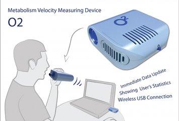 מכשיר המודד את כמות החמצן בנשיפה ומחשב את רמת חילוף החומרים לפי אלגוריתם מתמטי