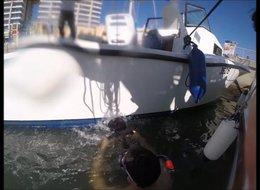 מברשת תת-מימית לניקוי יאכטות