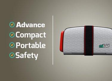כיסא בטיחות קומפקטי במיוחד לרכב