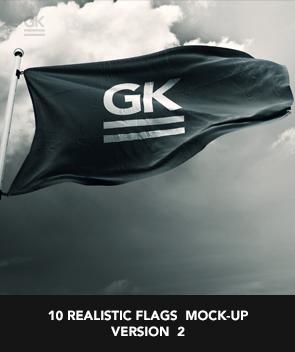 9 Realistic 3D Flag Mock Up`s - 38