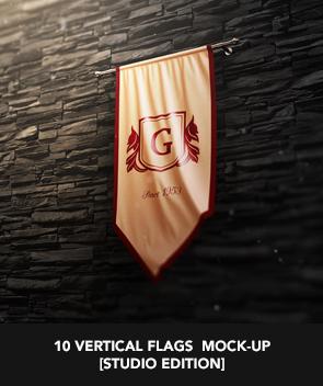 9 Realistic 3D Flag Mock Up`s - 24