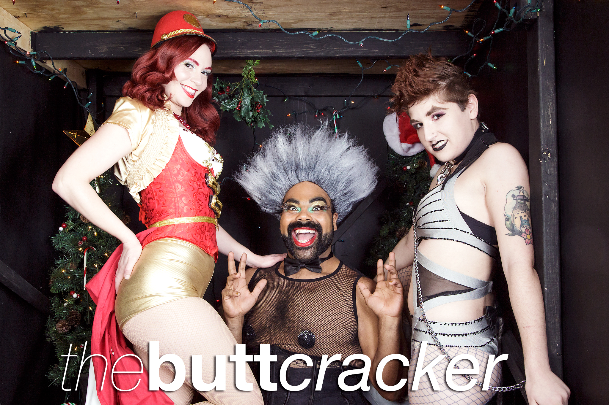 glitterguts portrait booth photos from buttcracker at the den theatre, chicago 2019