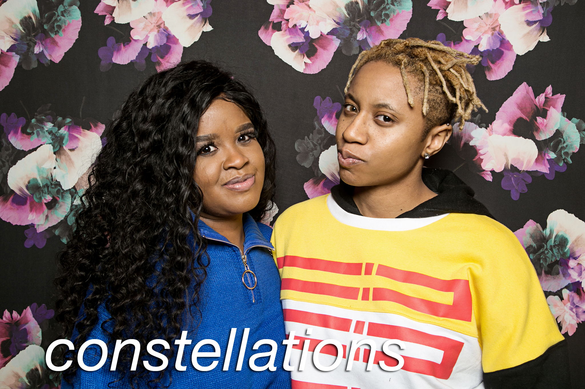 glitterguts portrait booth photos from constellations at beauty bar chicago, december 2019