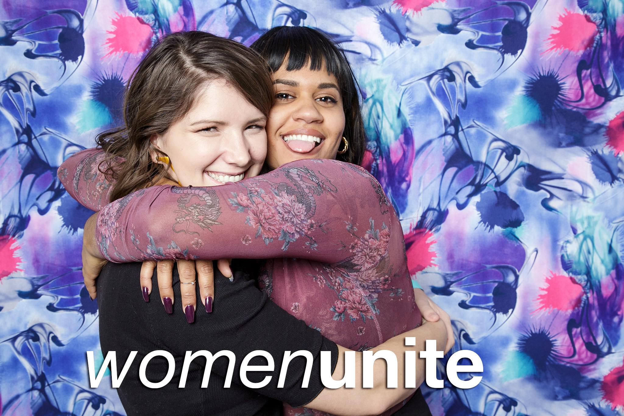 glitterguts photobooth portraits from women unite at hairpin arts, chicago 2019