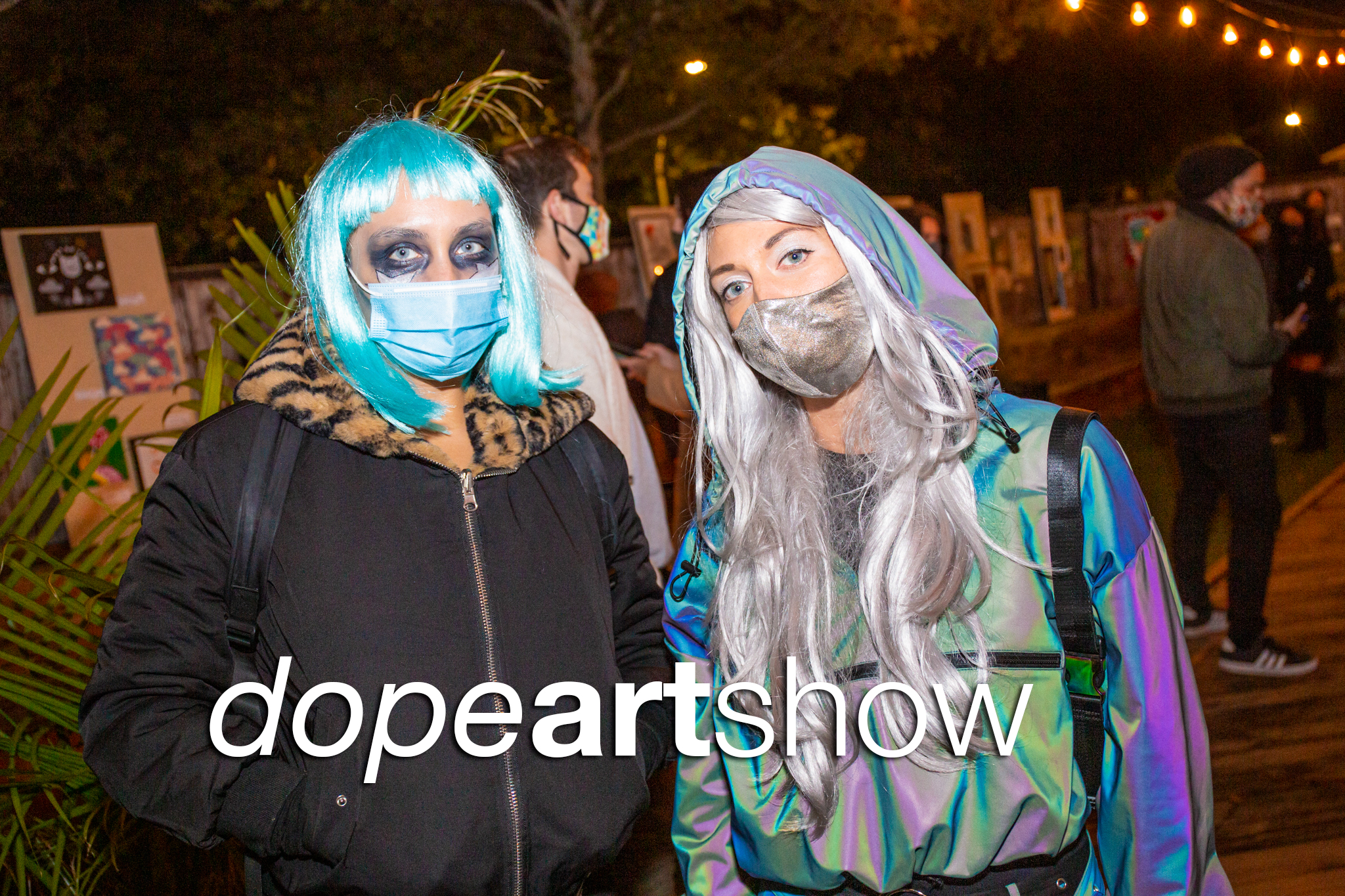 glitterguts event photos from a dope art show at ludlow liquors, chicago 2020