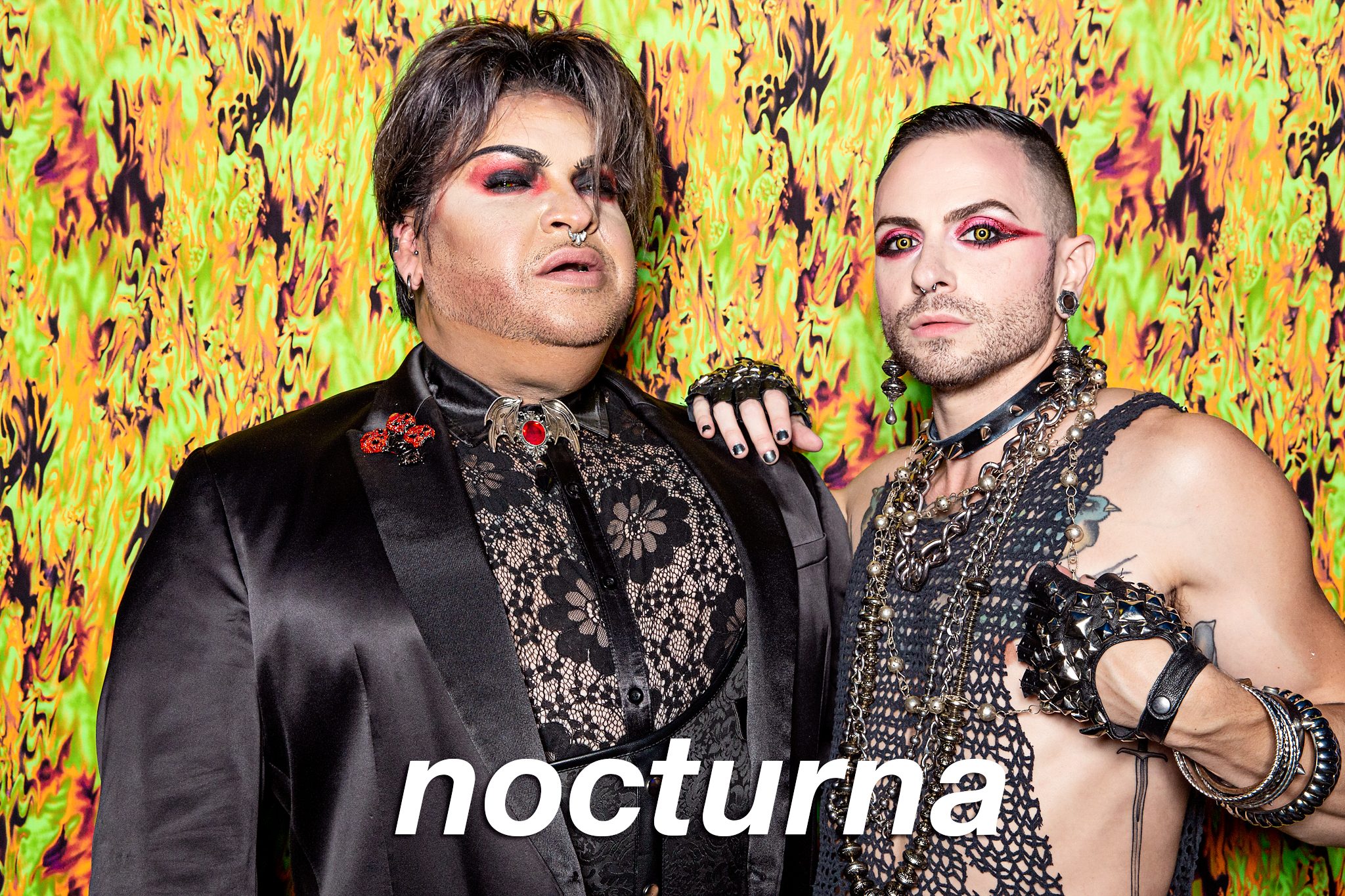 glitterguts portrait booth photos from nocturna in chicago, august 2021