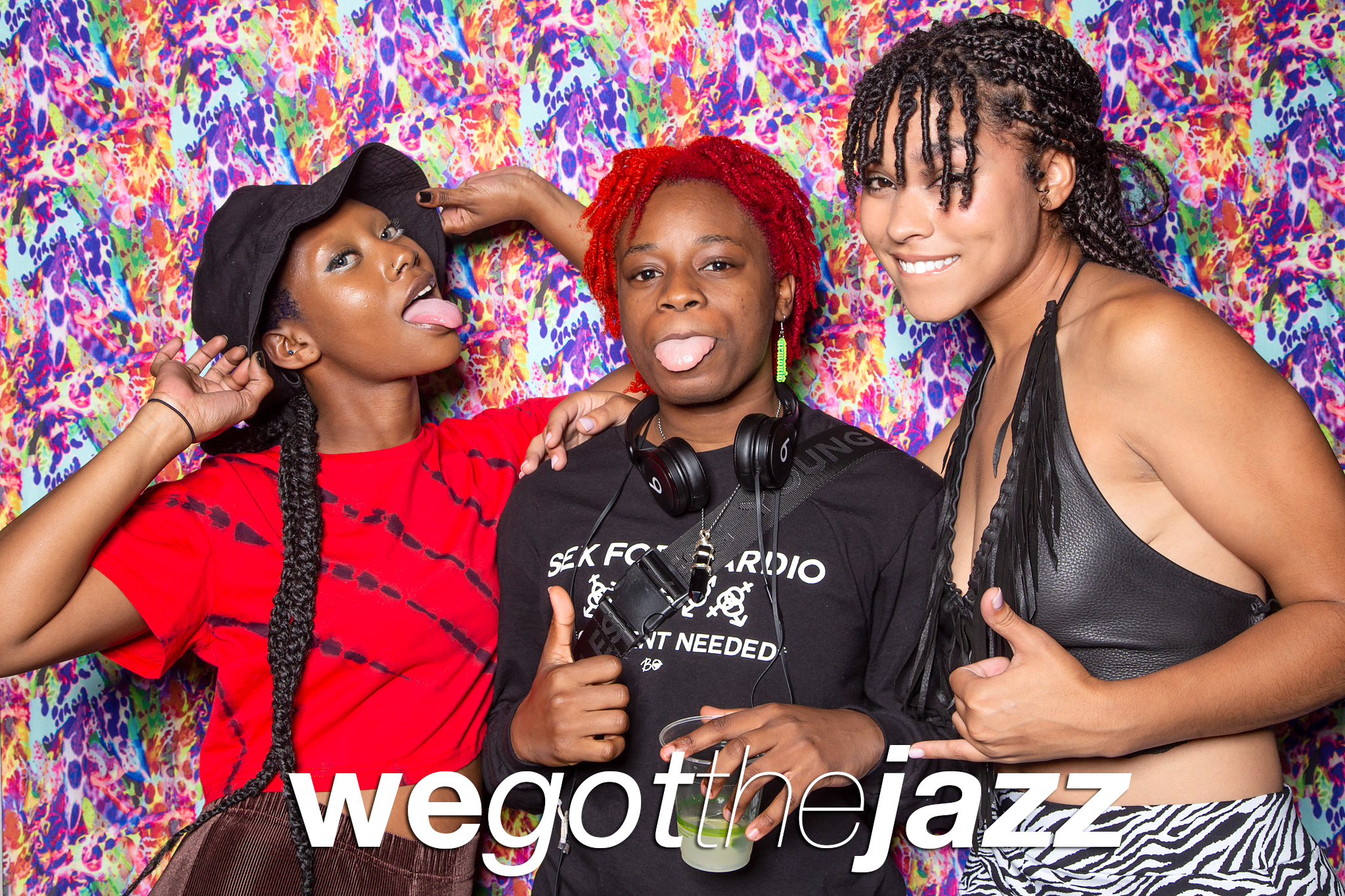 glitterguts portrait booth photos from we got the jazz at ace hotel, chicago 2021