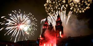 fireworks-santiago-cathedral-st-james-festival-camino-de-santiago-caminoways
