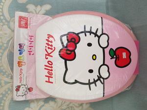 24417韓國-Sanrio-Hello-Kitty-吉蒂貓-軟墊坐廁板-廁所板$289-1 pc-沙田乙明村您家城/www.arpyema.hk