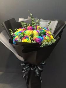 11枝七彩玫瑰520花束#AF1836