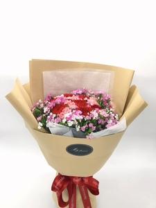 18枝雙色康乃馨花束 #KF063