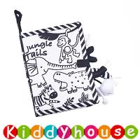 bb嬰兒玩具~多功能嬰兒黑白尾巴布書 T689 現貨