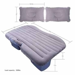 Multifunctional Inflatable Car Bed Mattress with Two Air Pillows, Car Air Pump and Repair Kit for Rest,Traval, Leisure and Entertainment (Random Colors)