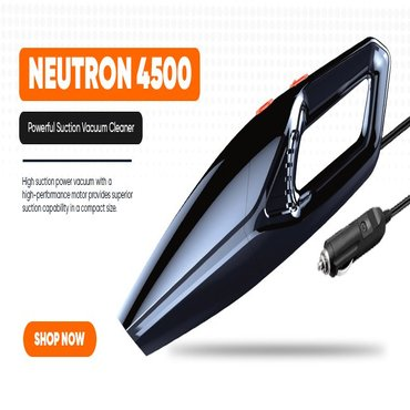 Neutron 4500 Car Vacuum Cleaner with Powerful Suction