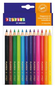 Färgpennor 12st tjocka