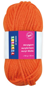 Acrylic yarn 50 g orange