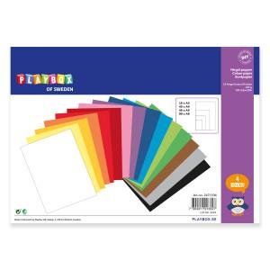 Papper A3 A4 A5 A6 100 g 15 färger
