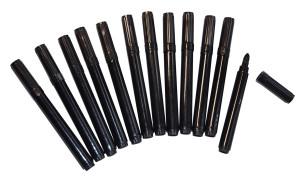 Fiberpennor 12 st svarta tjocka