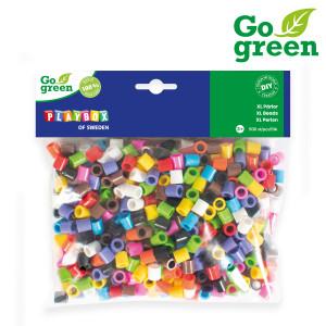 XL-rörpärlor I´m green 10-färgmix 500 st