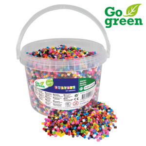 Ironing beads I´m green 10-colour mix 20.000 pcs in bucket