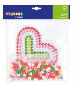 XL-pärlset hjärta ~ 250 rörpärlor