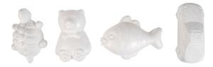 Styroporfigurer fisk bil sköldpadda & björn 24 st.