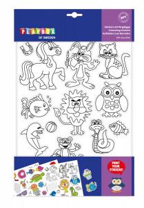 Stickers att färglägga 10 ark