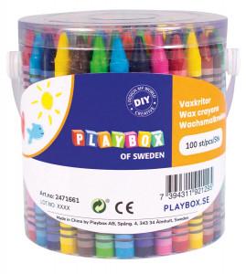 Crayons in bucket 100 pcs