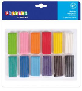 Modellera 12 färger 12 x 20 g