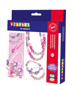 Pysselset gnistrande pärlor & silky armband & halsband