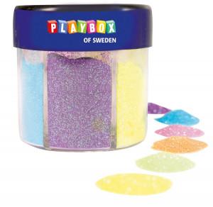 Streuglitzer 6 Farben 60 gr