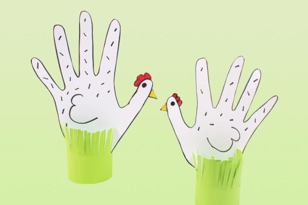 Draw a hand hen