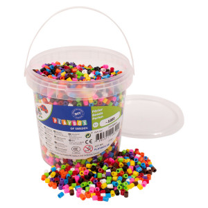 Ironing beads 10-colour mix 5000 pcs in bucket