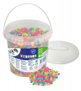 Rörpärlor pastell mix 5000 st i hink