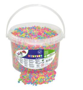 Rörpärlor pastell mix 20.000 st i hink