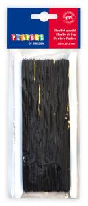 Elástischer Faden schwarz 25 m Ø 1 mm