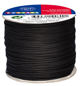 Kunstlederschnur schwarz 100 m