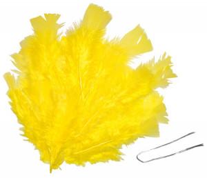 Osterfedern 48Stk gelb