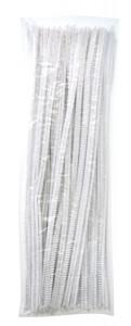 Chenilles white 100 pcs