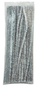 Chenilles silver 100 pcs