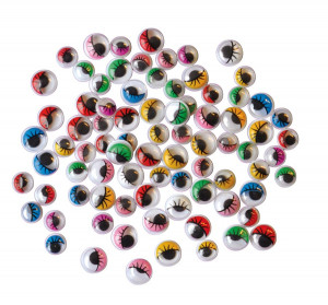 Eyes with lashes 230 pcs coloured