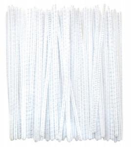 Chenilles white 100 pcs Ø 3 mm