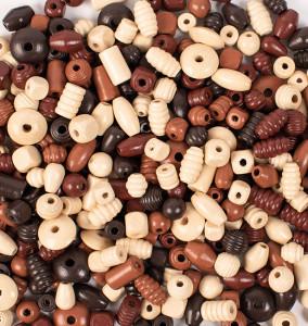 Träpärlor 250 g natur