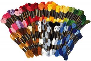Broderigarn 100 st 42 färger