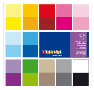 Design papers 305 x 305 mm 24 sheets single colours
