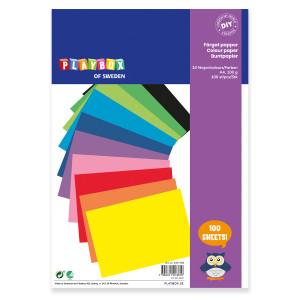 Paper A4 10 colours 100g 100 sheets