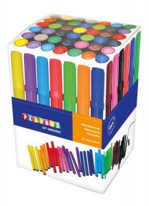 Fiberpennor 42 st olika färger tjocka