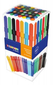 Fiberpennor 42 st olika färger smala