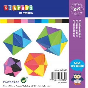Origamipapper 10 färger 15 x 15 cm 70 g 500 ark