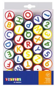 Stempel 35 Stk. Buchstaben & Zahlen